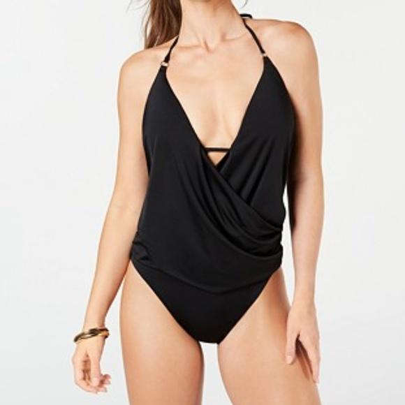 XL Bar III Starburst Printed One-Shoulder One-Piece Swimsuit